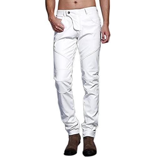 White Leather Pants: Amazon.c