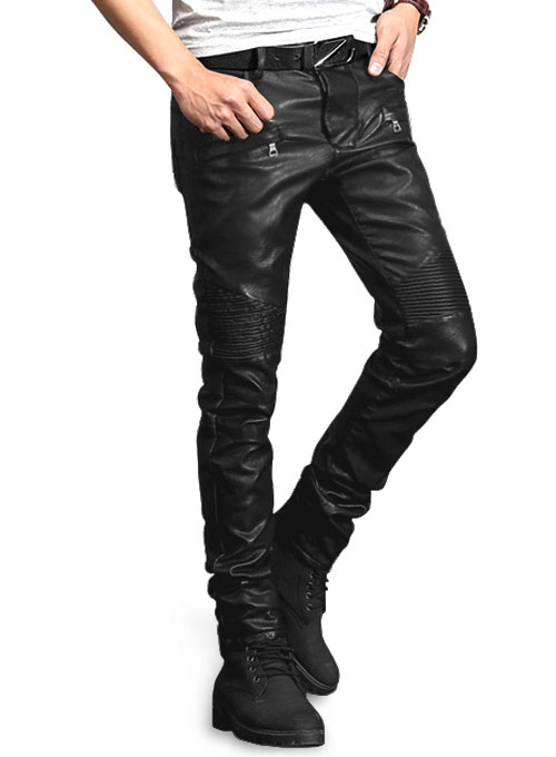 Yonex Black Stretch Vegan Leather Jeans : MakeYourOwnJeans®: Made .