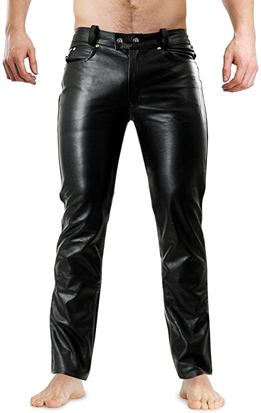Bockle 1991 Tube Lederhose Men Leather Pants Trouser Tight Leather .