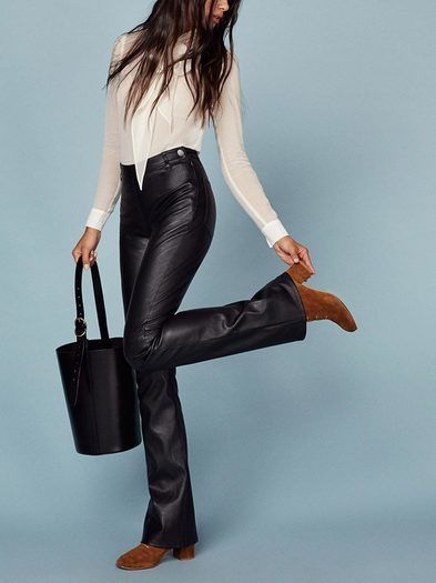 Annie Leather Pant in 2020 | Professional outfits, Leather pants .