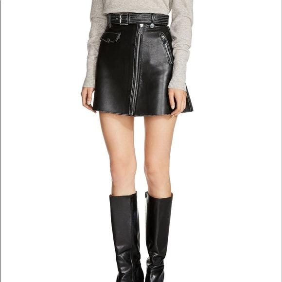 Maje Skirts | Leather Skirt | Poshma