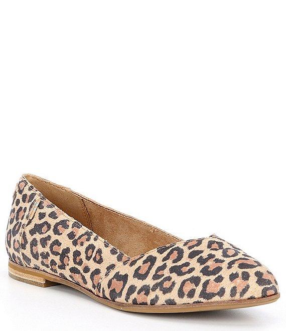 TOMS Julie Leopard Print Suede Flats | Dillard