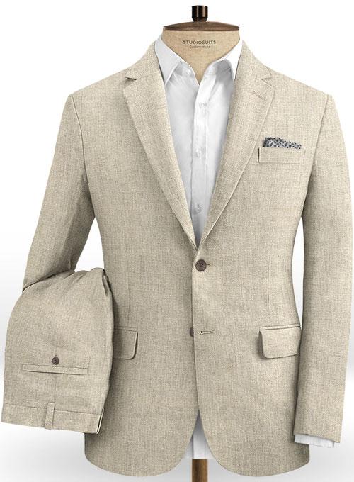 Italian Casa Beige Linen Suit : StudioSuits: Made To Measure .