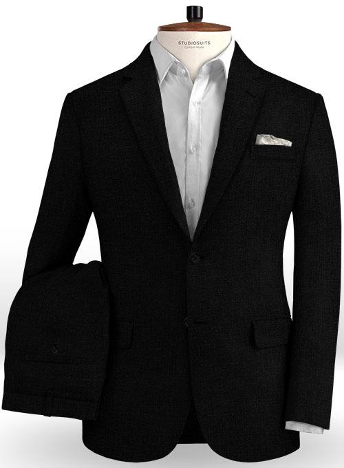 Pure Black Linen Suit : StudioSuits: Made To Measure Custom Suits .