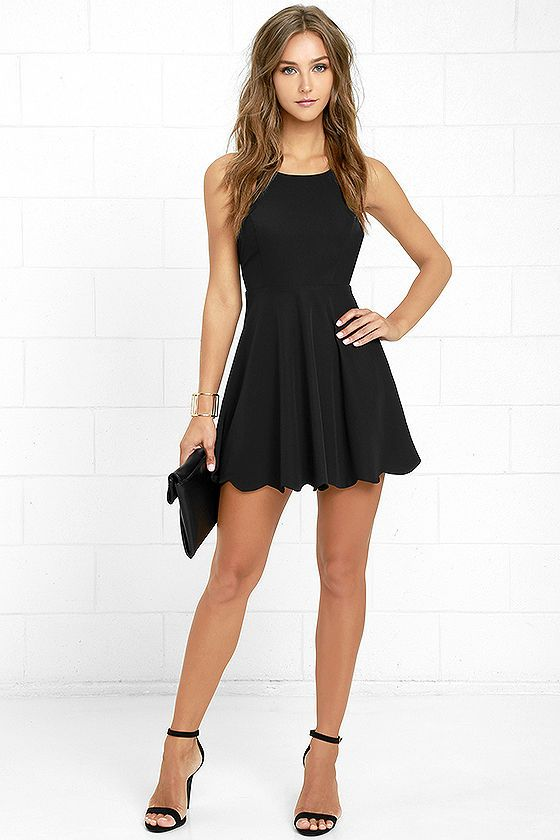 Play On Curves Black Backless Dress | Cute dresses, Homecoming .