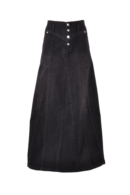 Victoria Black Long Denim Skirt # ET-0644 - Style