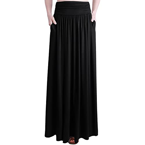 Women's Black Maxi Skirt: Amazon.c