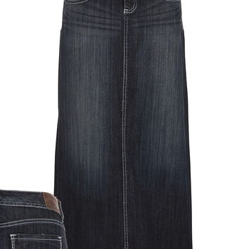 Dark Wash Long Denim Skirt from maurices | chur