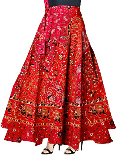 Silver Organisation Indian Women Ethnic Floral Print Cotton Long .