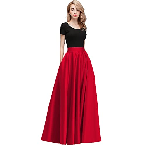 Red Long Formal Skirt: Amazon.c