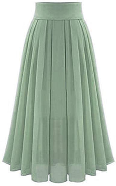 Amazon.com: High Waist Long Skirt, Women Vintage Loose Pleated A .