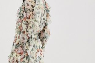 Forever Unique floral long sleeve playsuit | AS