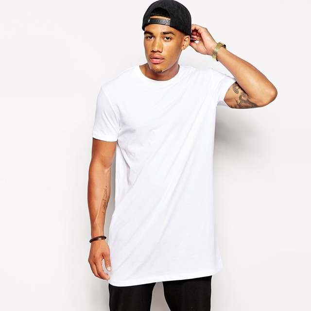 2020 White Casual Long Size Mens Hip hop Tops StreetWear extra .