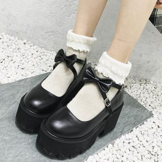 KICKOFF Block-Heel Platform Mary Jane Shoes | YesSty