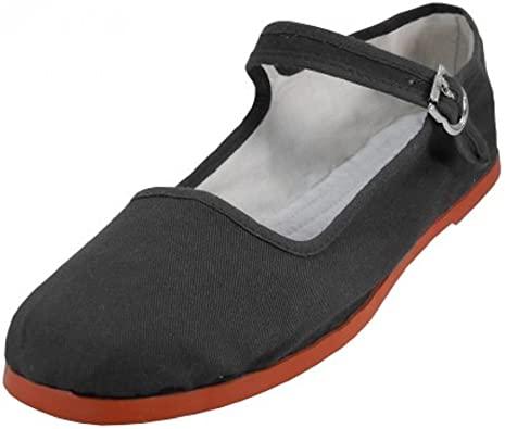 Amazon.com | Shoes 18 Womens Cotton China Doll Mary Jane Shoes .