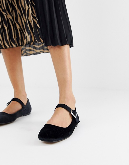 ASOS DESIGN Links mary jane ballet flats | AS