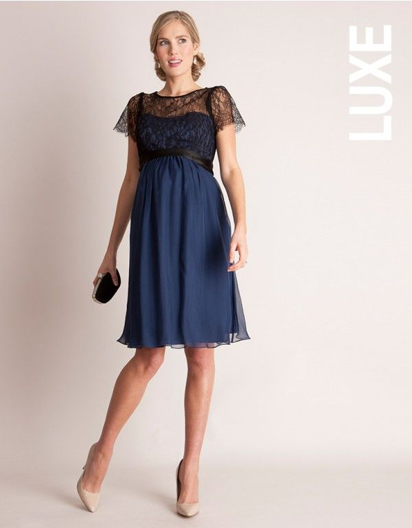 Silk and Lace Special Occasion Maternity Dress | Chic maternity .