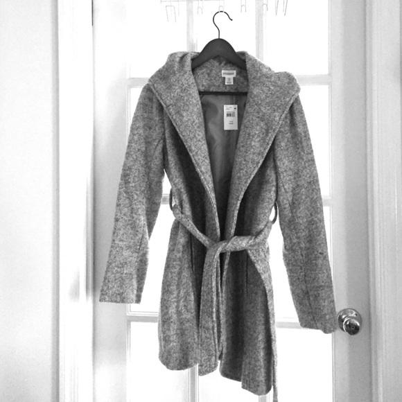 Motherhood Maternity Jackets & Coats | Nwt Hooded Boucle Maternity .