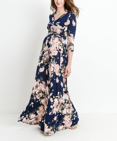 Hello Miz Maternity Floral Maternity Maxi Dress | Zuli