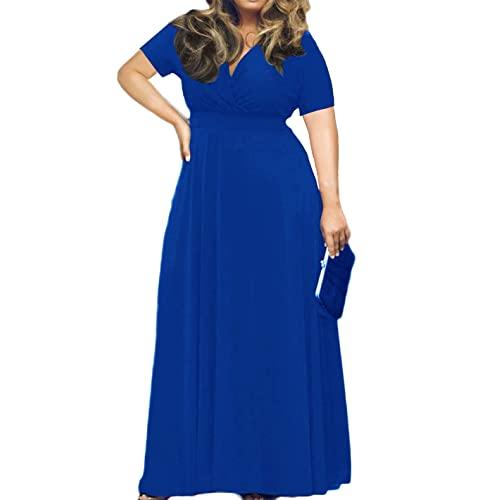 Blue Maxi Dress Plus Size: Amazon.c