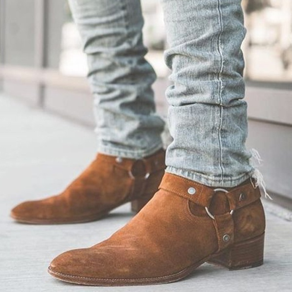 3 Color Autumn Winter Men Boots Fashion Suede Leather Round Toe .