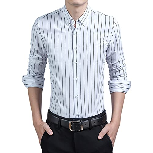 Men's Striped Dress Shirt: Amazon.c