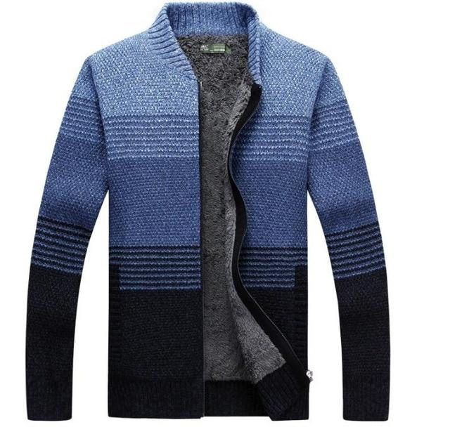 Assorted Colors Winter Men Sweaters With Brushed Men's Thick .