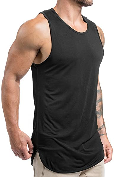 Amazon.com: Magiftbox Mens Extended Scoop Workout Stringer Tank .