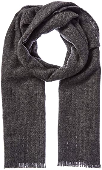 Amicale Mens Cashmere Texture Weave Cashmere Scarf, Grey at Amazon .