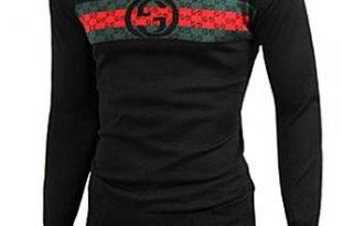 Mens Designer Clothes   GUCCI Men's Crew Neck Knit Cotton Sweater .