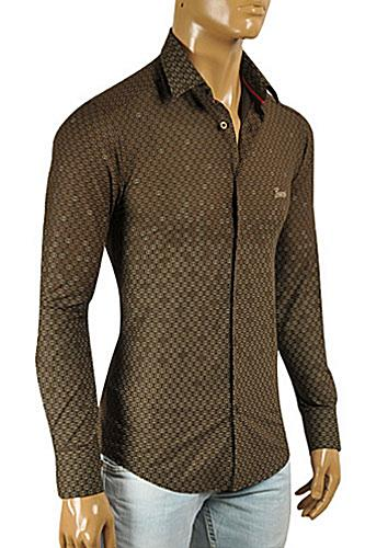 Mens Designer Clothes | GUCCI Men's Button Front Dress Shirt #3