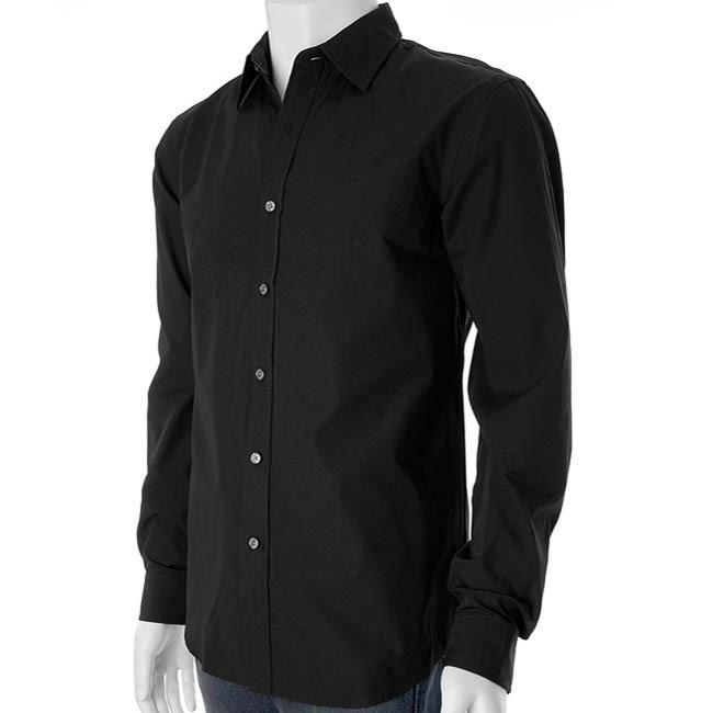 Black Dress Shirt, Black Men's Dress Shirts, Custom Black Shirts .