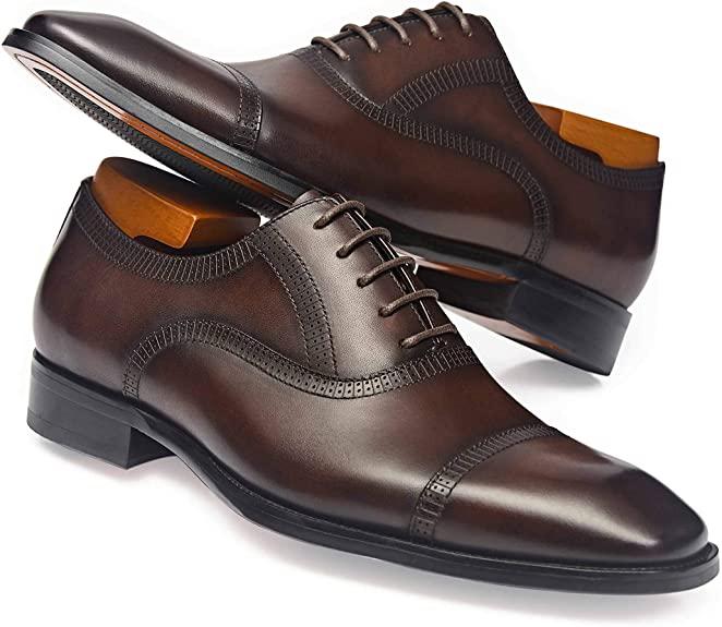 Amazon.com | Alipasinm Men's Dress Shoes Formal Oxford Leather .