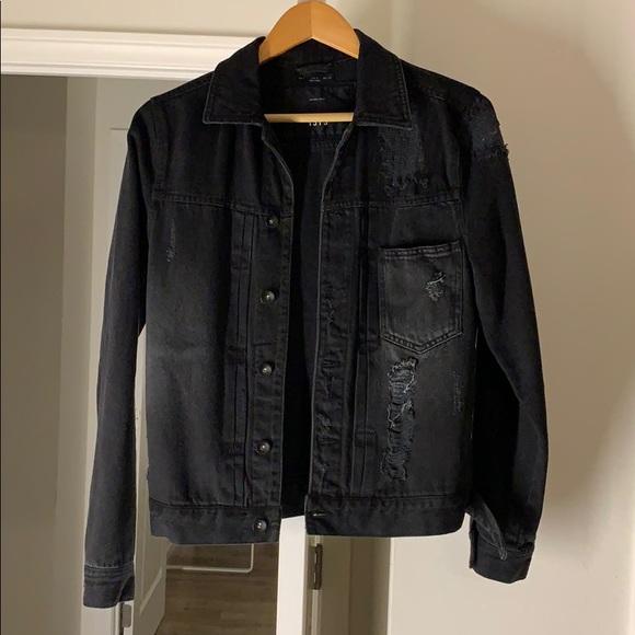 Zara Jackets & Coats | Mens Jean Jacket Black | Poshma