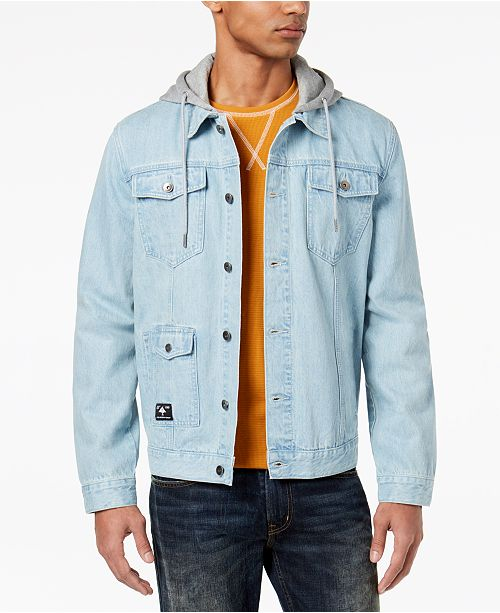 LRG Men's Hooded Jean Jacket & Reviews - Coats & Jackets - Men .