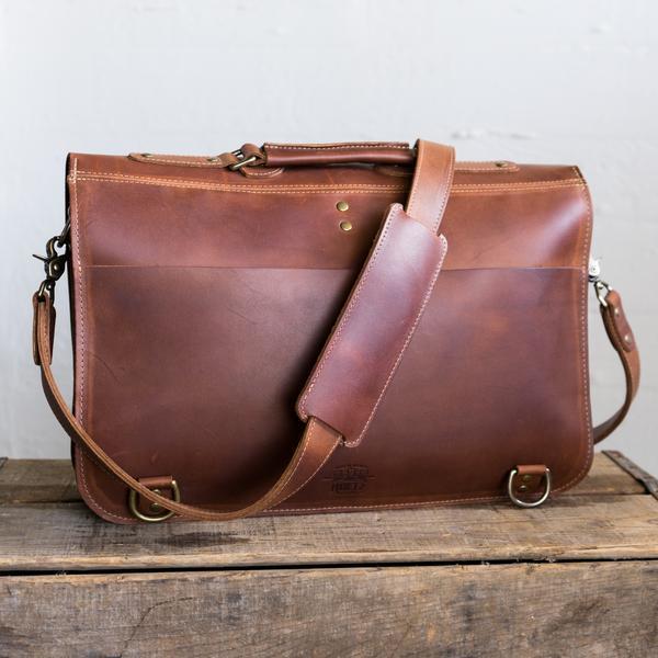 The No. 1860 EXPRESS - Fine Leather Messenger Bag & Mens Briefcase .