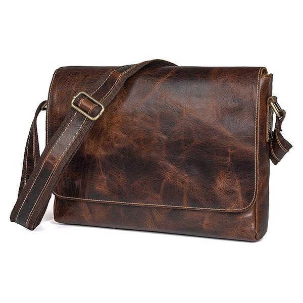 Vintage Messenger Bag Crossbody Shoulder Bag Mens Leather .