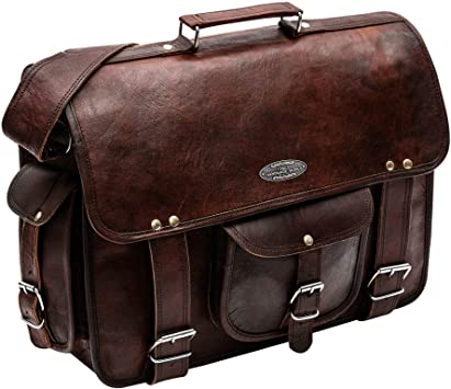 Amazon.com: Handmade World leather messenger bags for men women 18 .