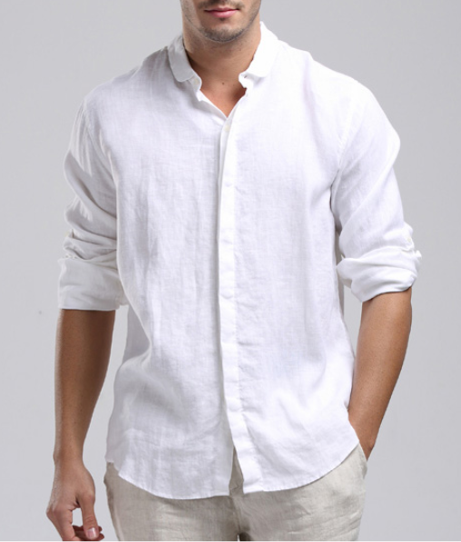 Mens Linen Shirt … | Linen shirt men, Mens wedding shirts, Linen shi