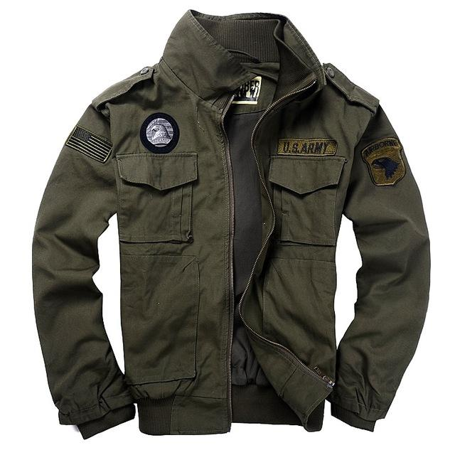 High Quality Cotton Men's Military Style Jacket – Brave T-Shir