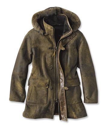 Saddlebrook Hooded Shearling Jacket - Orv