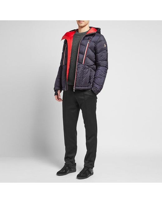 3 MONCLER GRENOBLE Arnensee Tricolore Zip Down Ski Jacket in Blue .