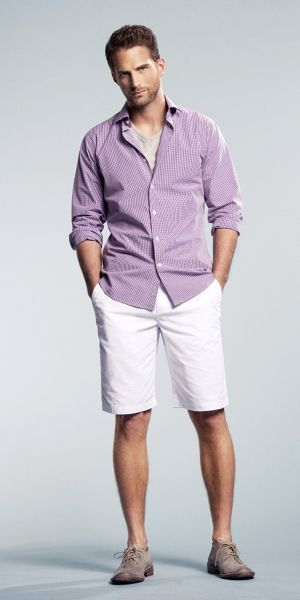 Summer Attire | Mens outfits, Casual shorts outfit, White jeans m