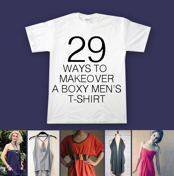 T Shirt Makeover - 29 ways to make over a Men's T Shirt | Shirt .
