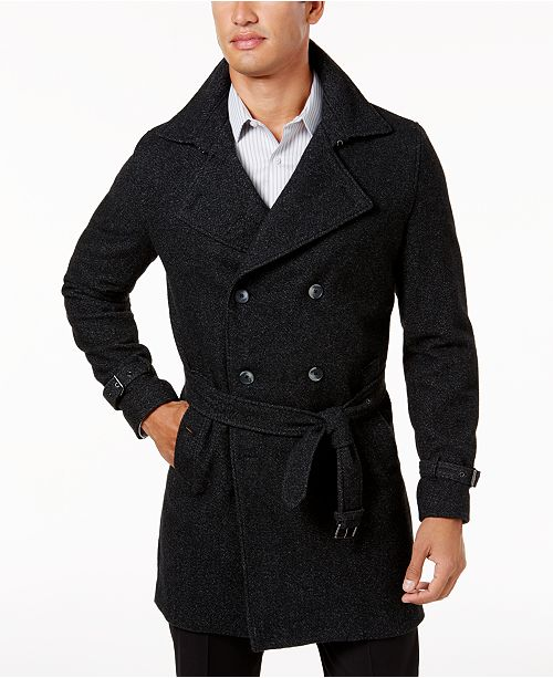 INC International Concepts I.N.C. Men's Double-Breasted Trench .