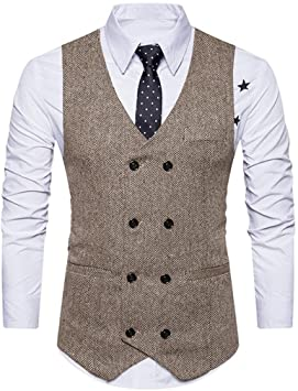 Amazon.com: Hemlock Men's Waistcoats Jacket, Men Busimess Suit .