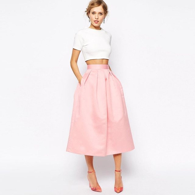 Fashion High Waist Formal Women Skirts Customized Blush Pink Maxi .