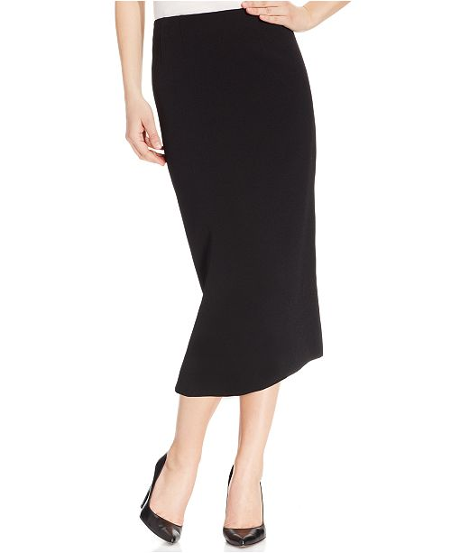 Kasper Crepe Pencil Midi Skirt & Reviews - Skirts - Women - Macy