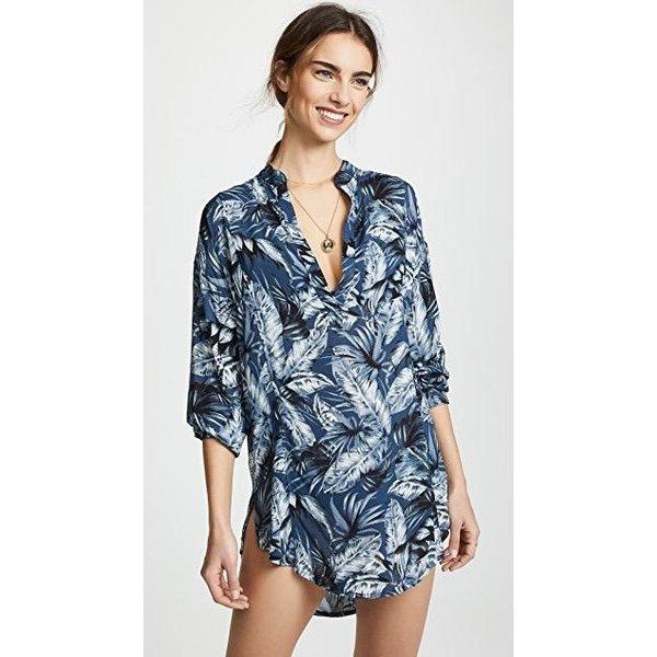 Mikoh Swimwear Mikoh Cannes L/S V Neck Tunic Cover Up - I Heart .