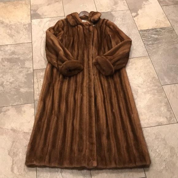 Bob Mackie Jackets & Coats   Full Length Mink Coat   Poshma
